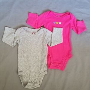 Baby Girl's, Long Sleeved, Carter's, One Pieces